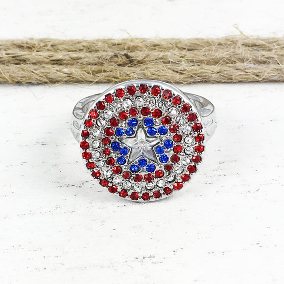 Ring | Captain America | Shield with gems