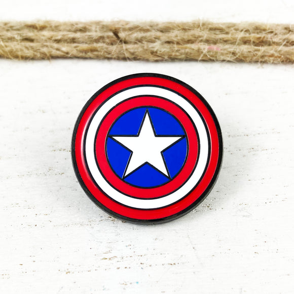 Enamel Pin | Captain America | Shield