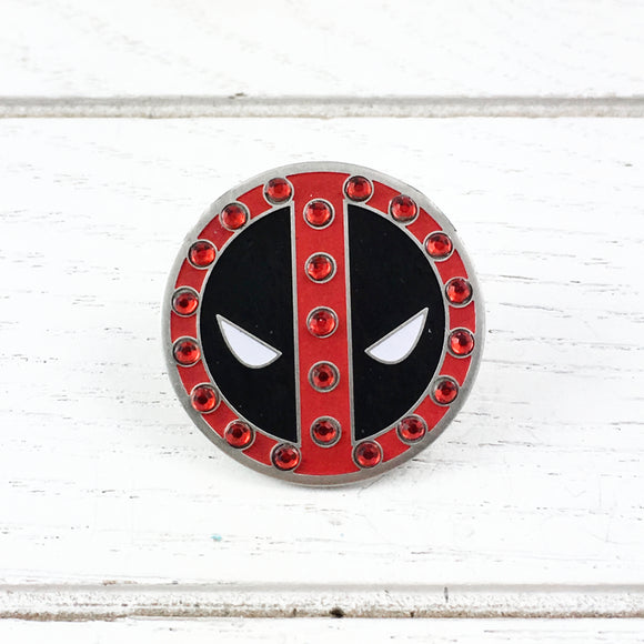 Enamel Pin with Sparkles | Deadpool