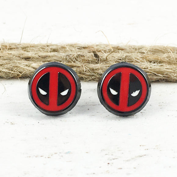 Stud Earrings | Deadpool