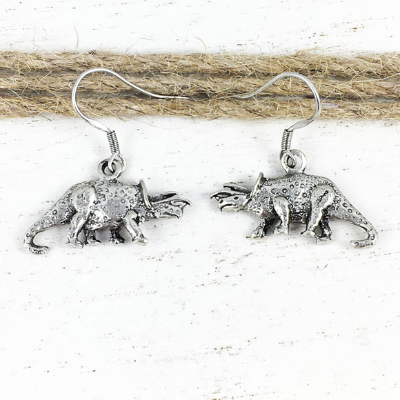 Earrings | Dinosaurs | Spotted Triceratops