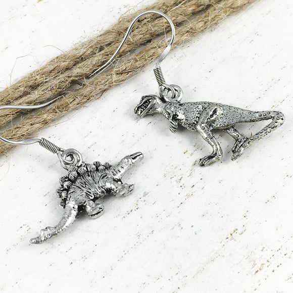 Earrings | Dinosaurs | T-Rex and Stegosaurus