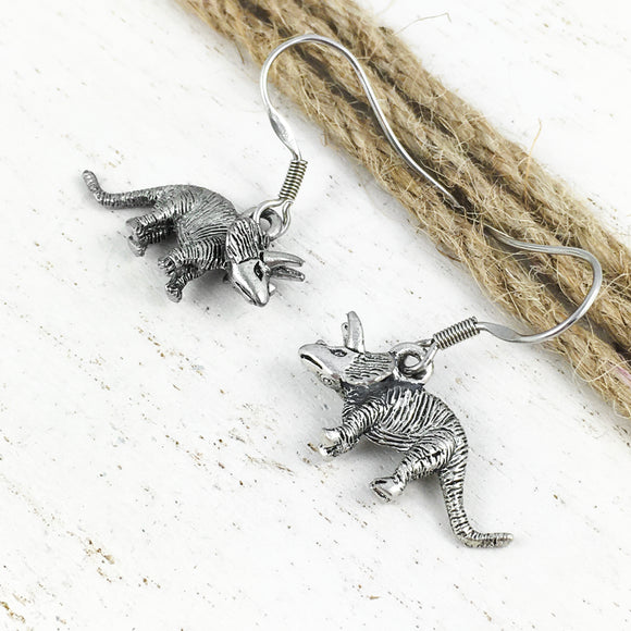 Earrings | Dinosaurs | Triceratops