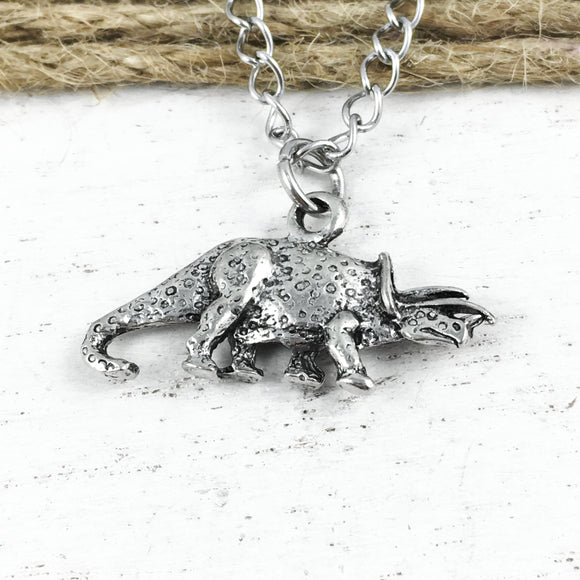 Necklace | Dinosaur | Spotted Triceratops