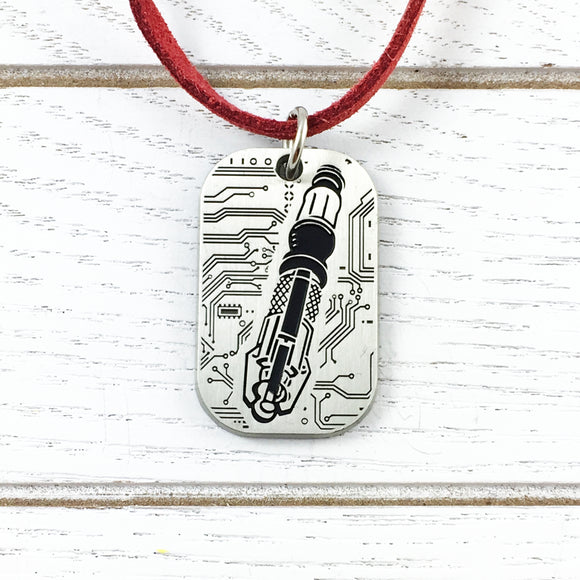 Collier | Doctor Who | Carte de circuit Sonic Screwdriver