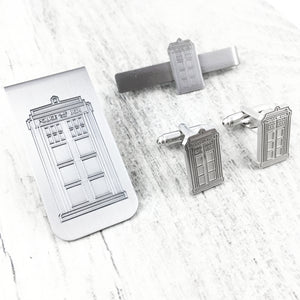 Cuff Links Set | Doctor Who | TARDIS