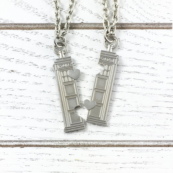 Ensemble collier d'amitié | Doctor Who | TARDIS