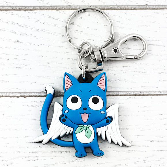 Soft Plastic Keychain | Fairy Tail | Happy