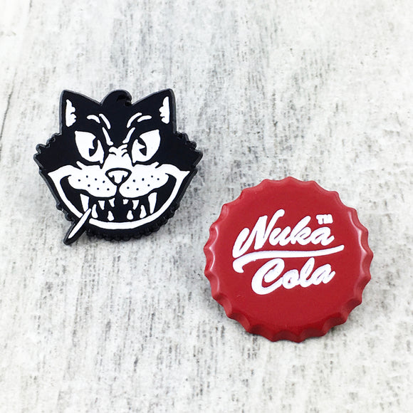 Enamel Pin Set | Fallout | Nuka Cola and Atom Cats
