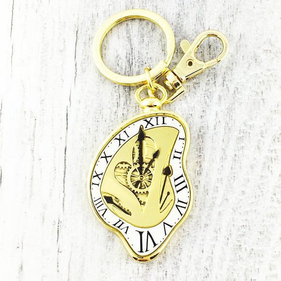 Keychain | Alice Through the Looking Glass | Clock