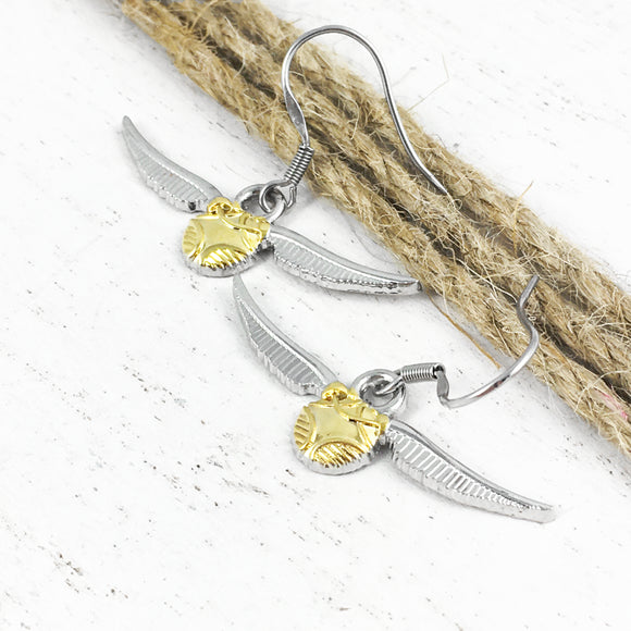 Boucles d'oreilles pendantes | Harry Potter | Vif d'Or