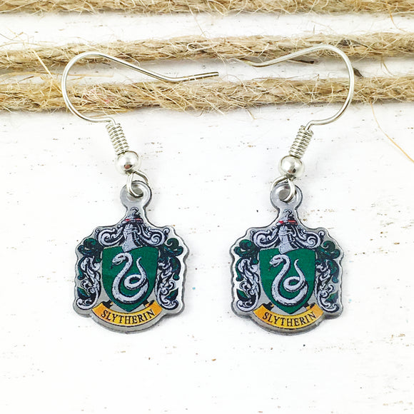 Boucles d'oreilles pendantes | Harry Potter | Serpentard