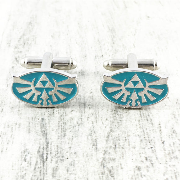 Cuff Links | Legend of Zelda | Hyrule Crest (blue)