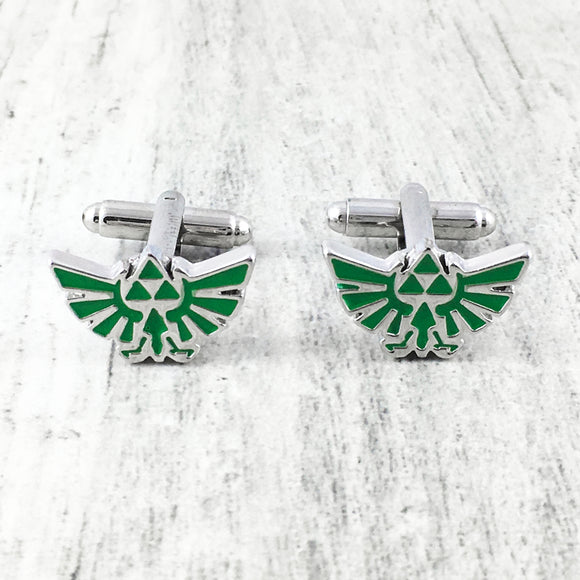 Cuff Links | Legend of Zelda | Hyrule (green)