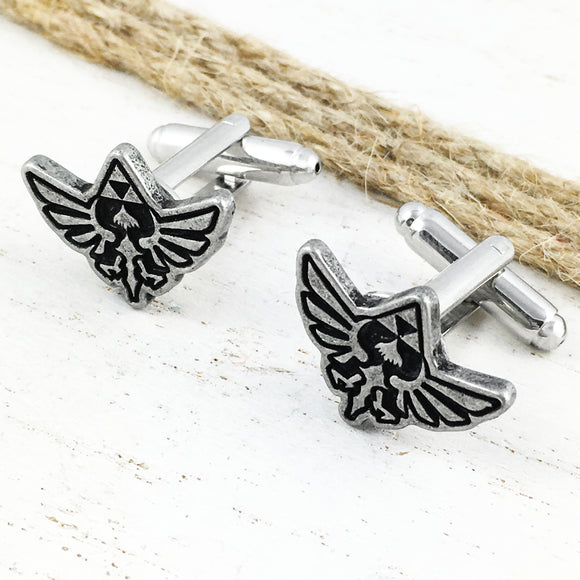 Cuff Links | Legend of Zelda | Hyrule (pewter)