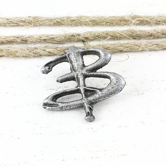 Metal Pin | Letter B Monogram