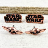 Stud Earrings Set | The Mandalorian | Grogu and Star Wars Logo