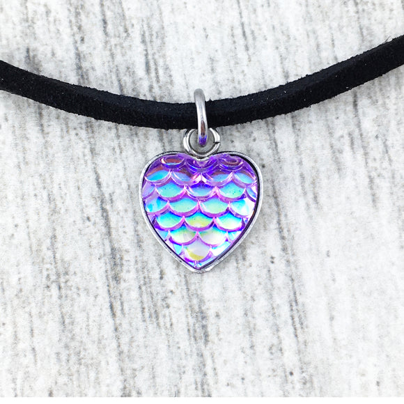 Choker Necklace | Purple Mermaid Scales
