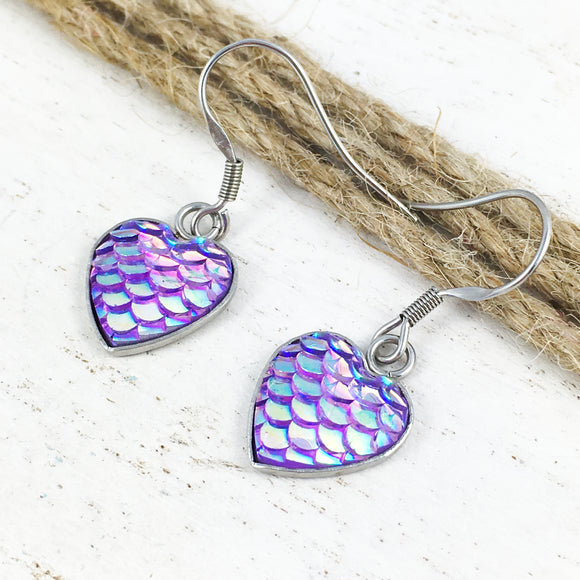 Earrings | Mermaid Scales (purple)