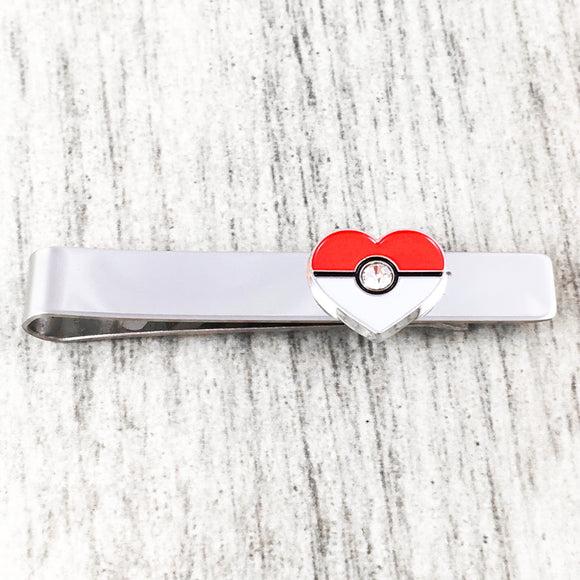 Tie Clip | Pokemon | Pokéball Heart
