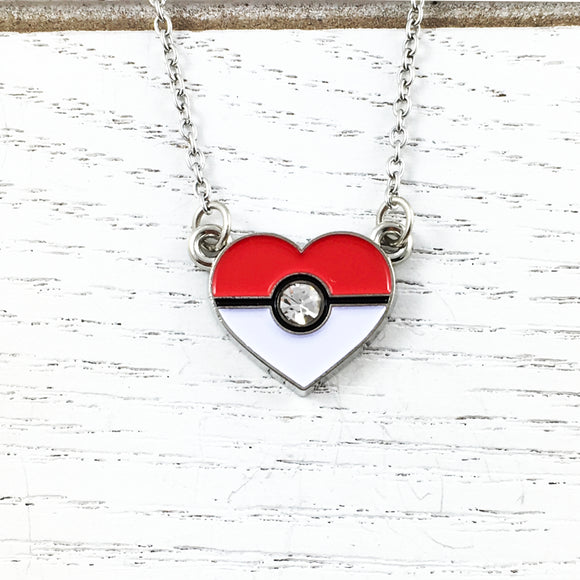 Necklace | Pokémon | Heart-Shaped Pokéball