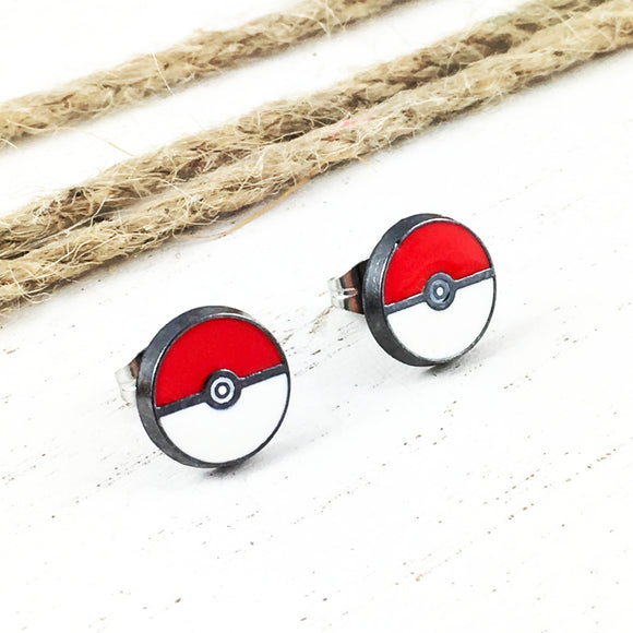 Stud Earrings | Pokémon | Pokéball