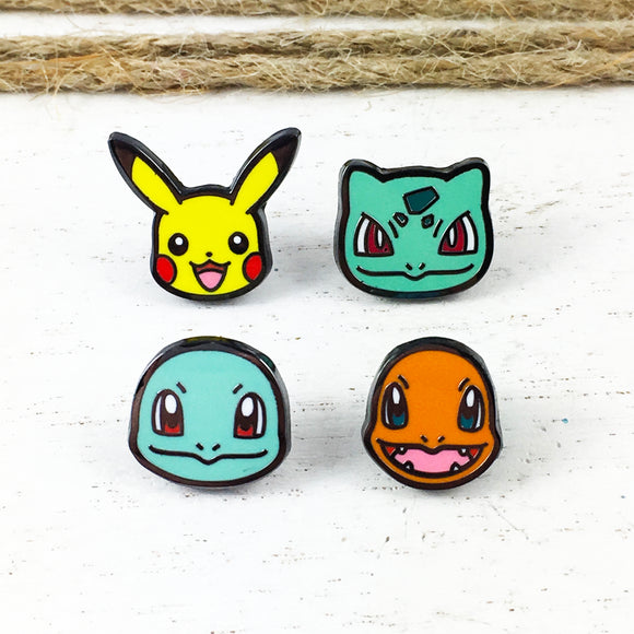 Enamel Pin Set | Pokémon | Original Starters
