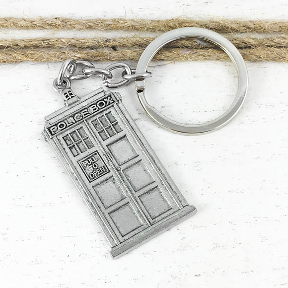 Pewter Keychain | Police Box