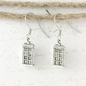 Earrings | Police Box (small)