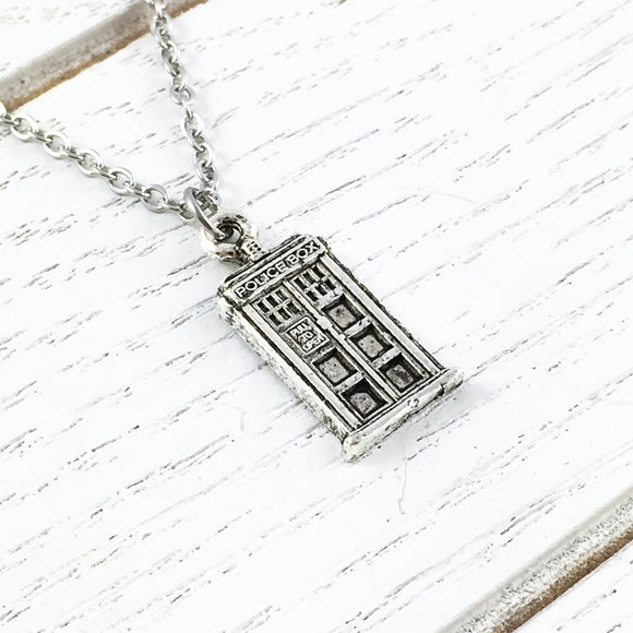 Necklace | Police Box (small)