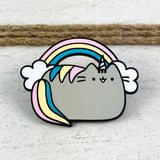 Enamel Pin | Pusheen | Rainbow Pusheenicorn