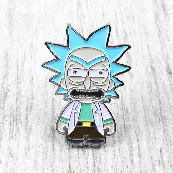Enamel Pin | Rick and Morty | Angry Rick