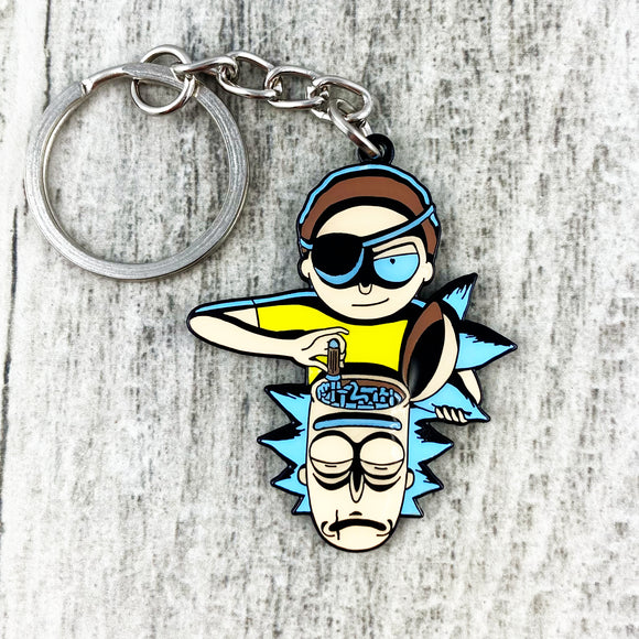 Enamel Keychain | Rick and Morty | Evil Morty