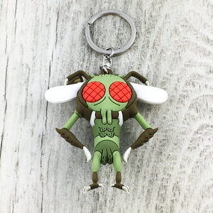 Soft Plastic Keychain | Rick and Morty | Gromflomite