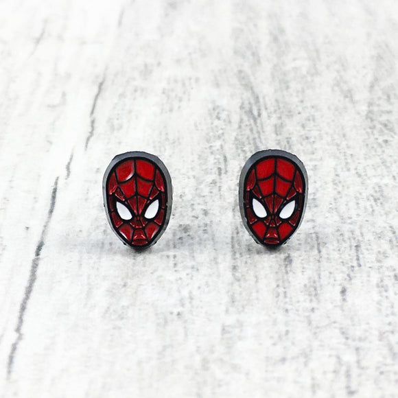 Stud Earrings | Spider Man