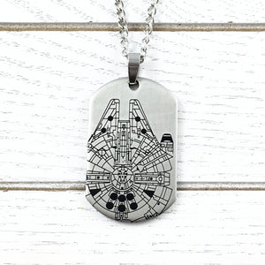 Collier | Star Wars | Faucon Millenium style « dog tag »