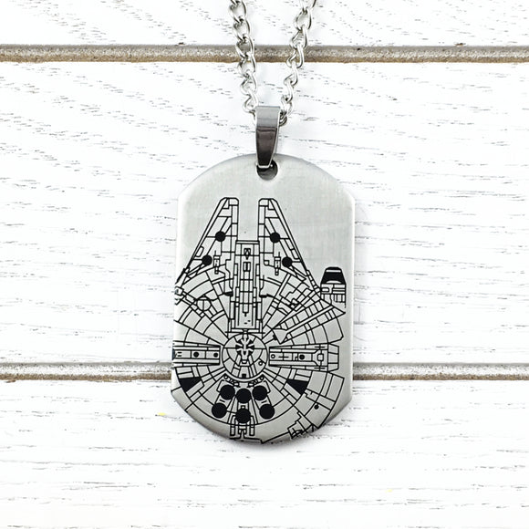 Collier | Star Wars | Faucon Millenium (dog tag)