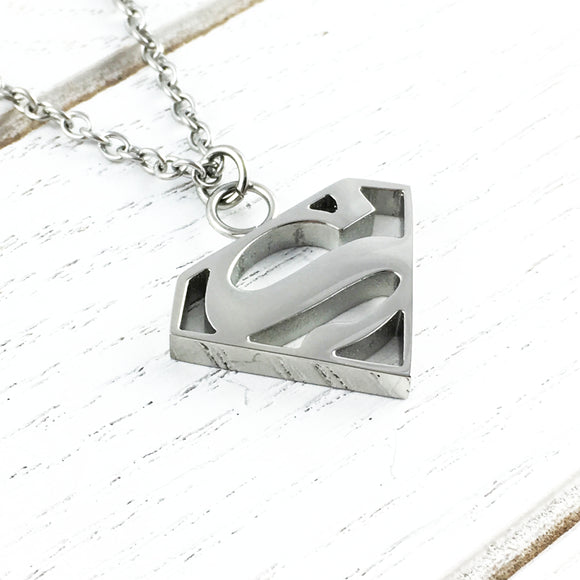 Collier | Superman | Logo en acier