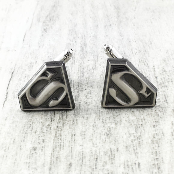 Cuff Links | Superman | Pewter Logo