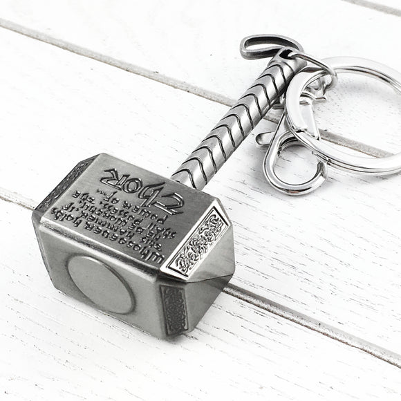 Pewter Keychain | Thor | Mjolnir (comic book version)
