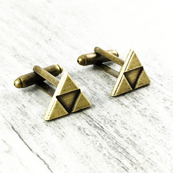 Cuff Links | Bronze Triangle