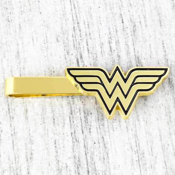 Pince à cravate | Wonder Woman | Logo doré