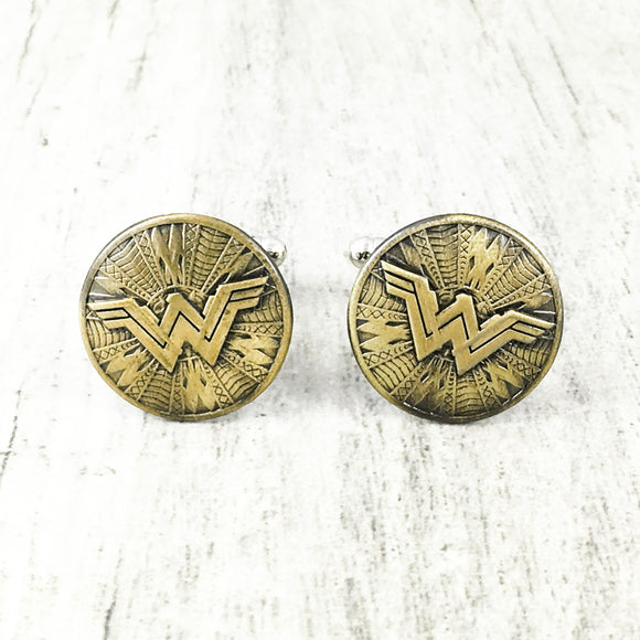 Cuff Links | Wonder Woman | Shield