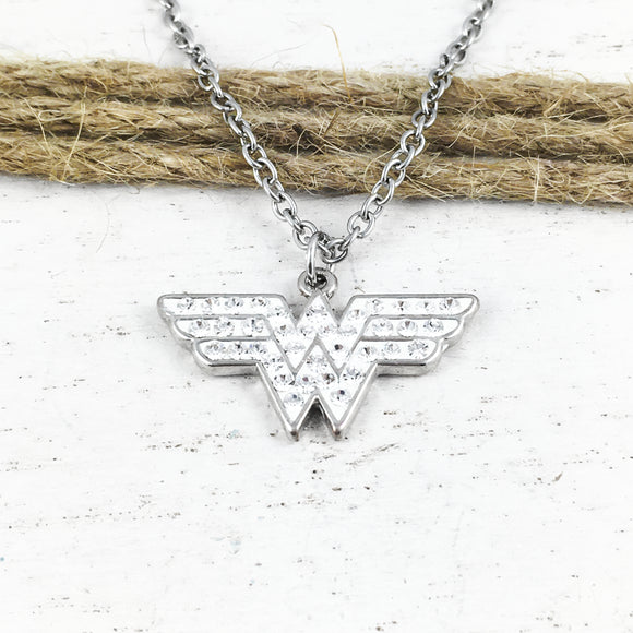 Necklace | Wonder Woman | Logo (with gems)