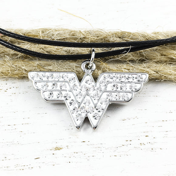 Bracelet or Anklet | Wonder Woman | Glittery logo