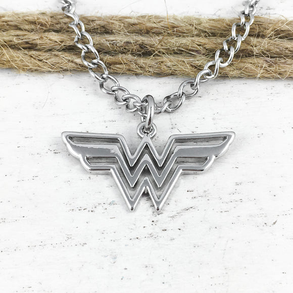 Collier | Wonder Woman | Logo (argenté)