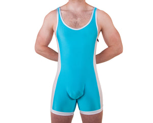 Aqua Singlet - Bum-Chums Gay Men's Underwear - Made in UK
