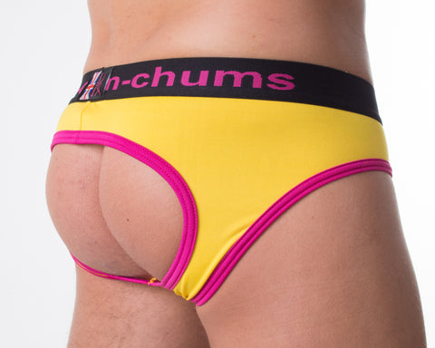 Raspberry Ripple Backless Brief - Bum-Chums Gay Men's Underwear - Made in UK