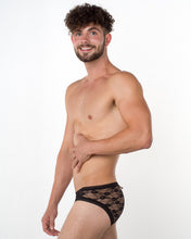 Men's Black Lace Brief - Bum-Chums Gay Men's Underwear - Made in UK