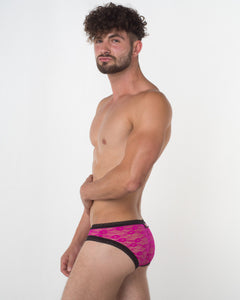 Men's Pink Lace Brief - Bum-Chums Gay Men's Underwear - Made in UK